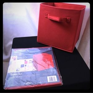 NWOT ClosetMaid Red Fabric Drawer** - 4 available